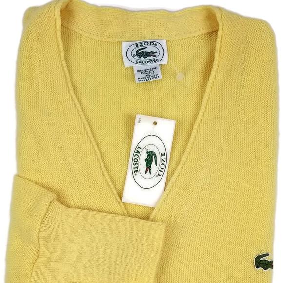a008157bb Vintage Izod Lacoste Cardigan Sweater Men s Sz XL